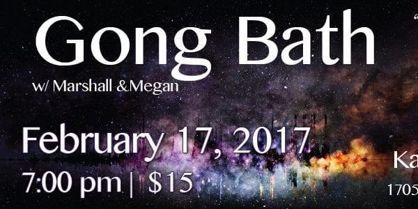February Gong Bath at Karma